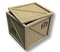 HT Certified Wood Crate